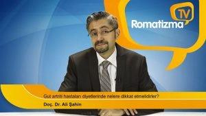 Doç. Dr. Ali Şahin - Gut artriti hastaları diyetlerinde nelere dikkat etmelidirler?