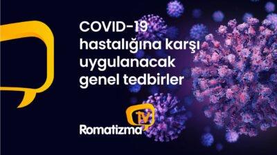 COVID-19 hastalığına karşı uygulanacak genel tedbirler