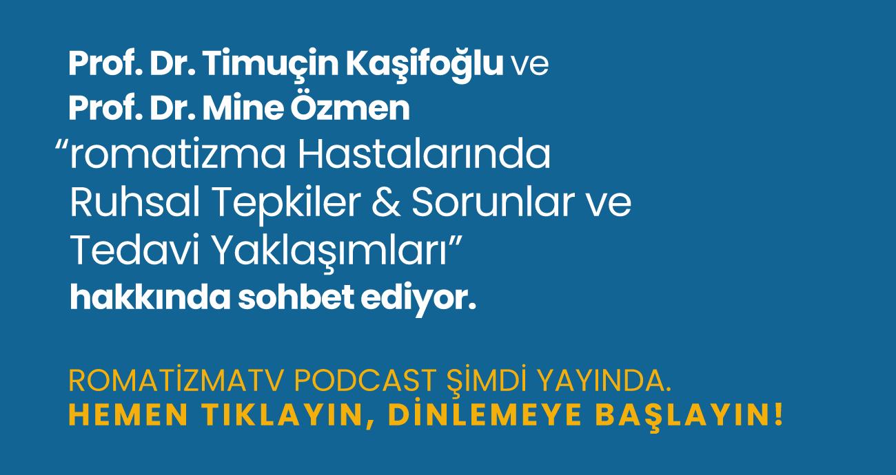 """Prof. Dr. Timuçin Kaşifoğlu ve Prof. Dr. Mine Özmen """"Romatizma Hastalarında Ruhsal Tepkiler & Sorunlar ve Tedavi Yaklaşımları"""" hakkında sohbet ediyor."""